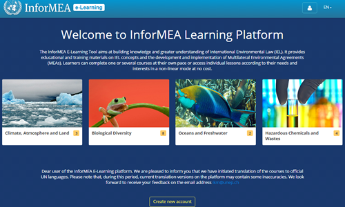 The InforMEA e-Learning platform
